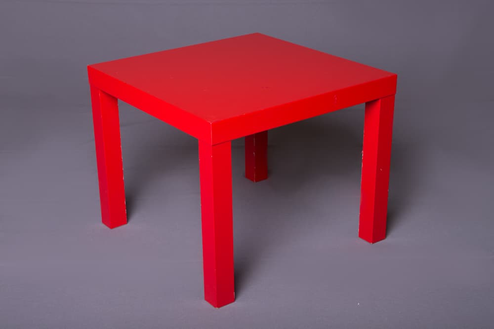 2x2 End Table Red Pico Party Rentals