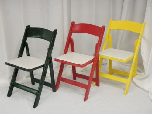 Our Inventory of Dining Tables amp Chair Rentals in Los Angeles : Green red and yellow wood folding chair rentals in los angeles from picopartyrents.com size 500 x 375 jpeg 20kB