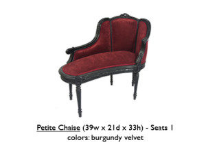 Lounge chairs rentals for los angeles parties events for Burgundy chaise