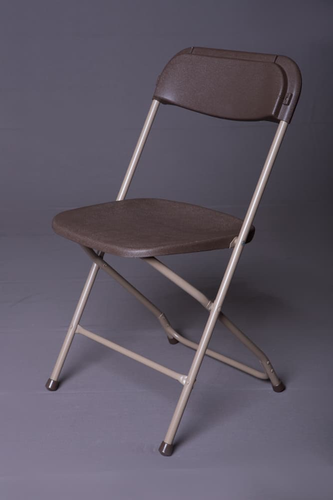 brown samsonite plastic folding chair - Plastic Folding Chairs
