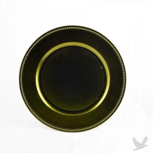 olive-green-charger-platedinnerware-rental-in-los-angeles